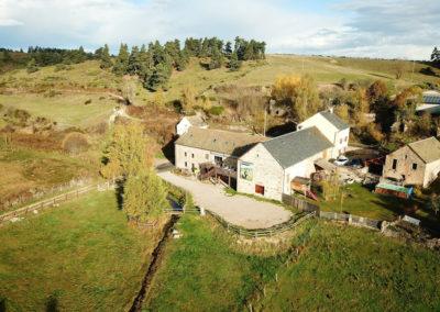 vue aérienne des granges